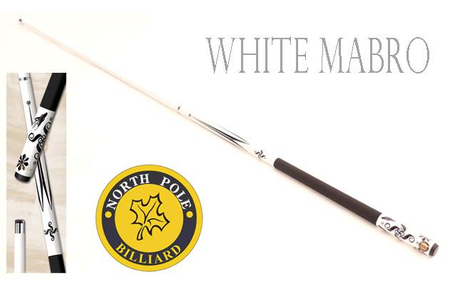 ไม้คิวกราไฟต์ NORTHPOLE รุ่น WHITE MABRO แบบต่อกลาง