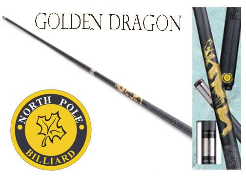 ไม้พูลกราไฟต์ NORTHPOLE รุ่น GOLDEN DRAGON แบบต่อกลาง by GTT Billiard