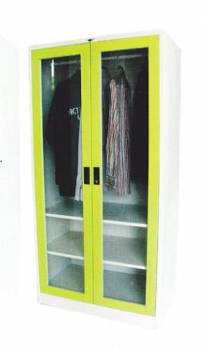 ตู้เสื้อผ้า 2 บานเปิด (กระจก) 3 ฟุต สูง Grade B w91.4*d53.3*h183 ซม.
