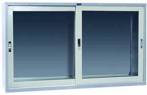 ตู้เก็บเอกสารบานเลื่อน 5 ฟุต กระจก Grade B