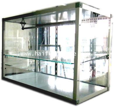 ตู้ขายส้มตำ กระจก ขอบอลูมิเนียม 24 นิ้ว 62*31*41 cm
