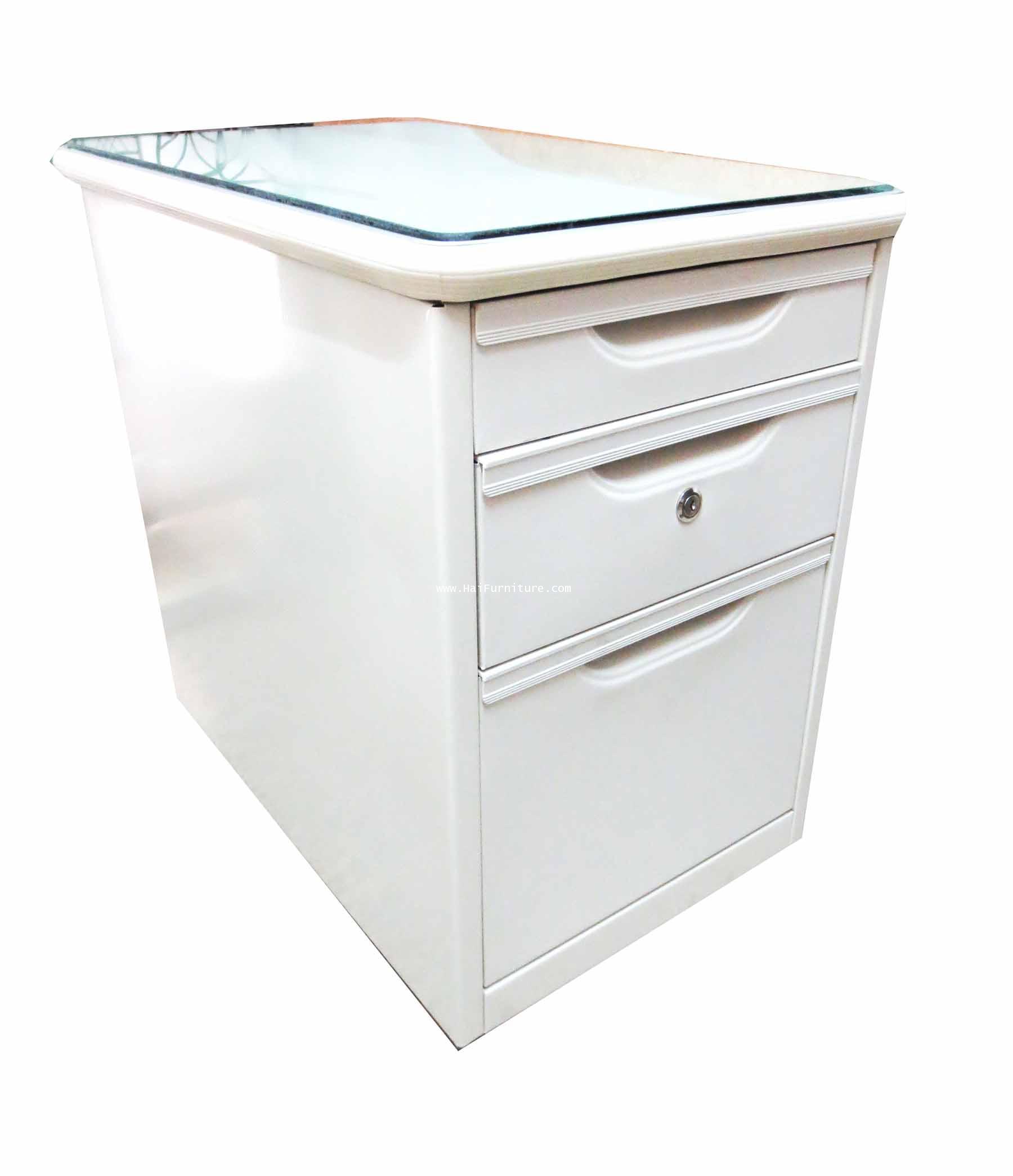 โต๊ะเหล็กเสริมข้าง แบบมีล้อ ตรา Elegant 42*68*65 ซม.