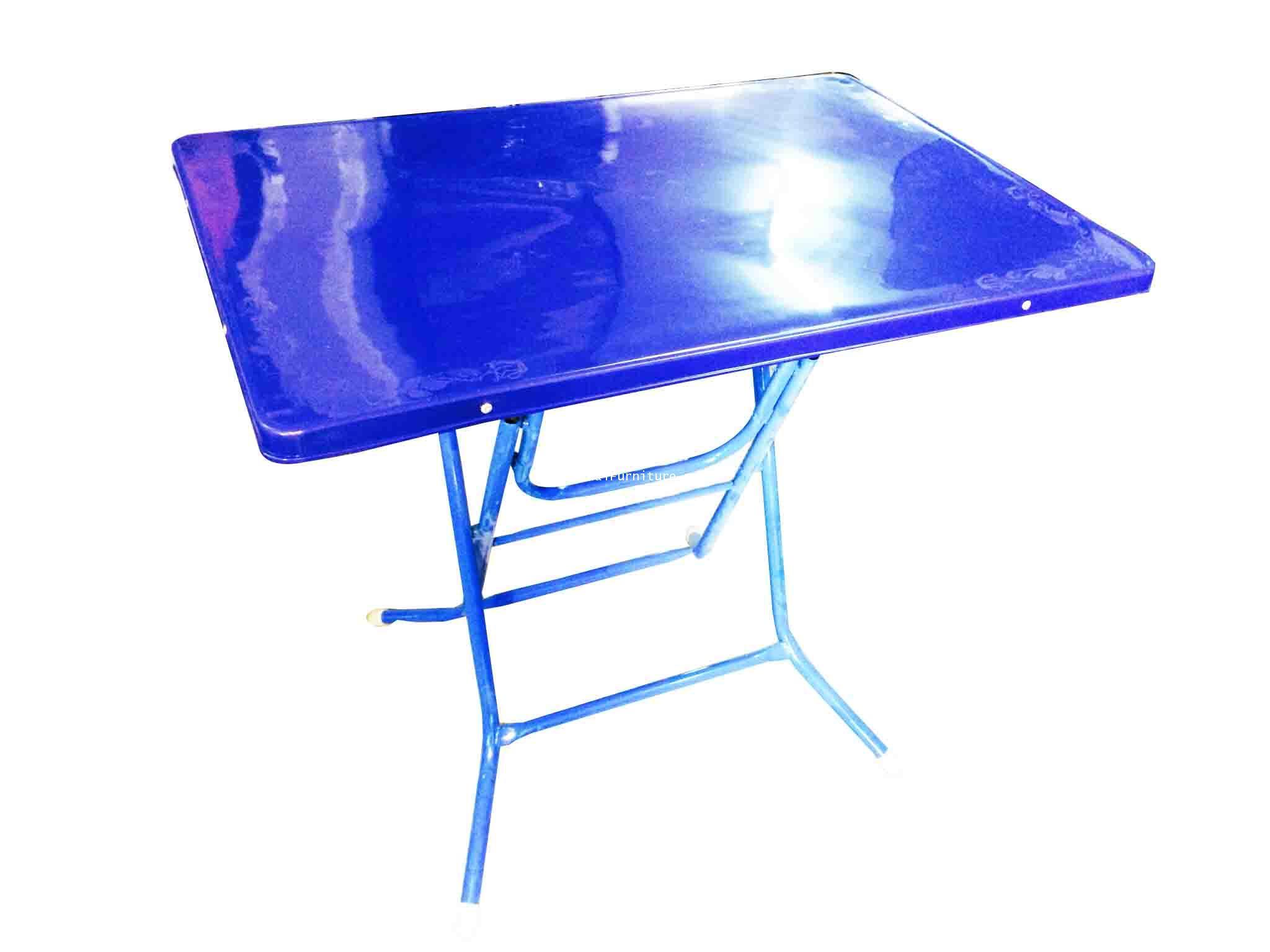 โต๊ะพับพลาสติกขาไขว์ ขนาด 90 ซม.