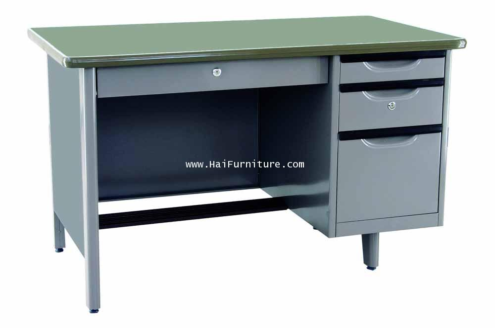 โต๊ะทำงานเหล็ก 4 ฟุต ตรา Elegant 123*67*75.3 ซม.