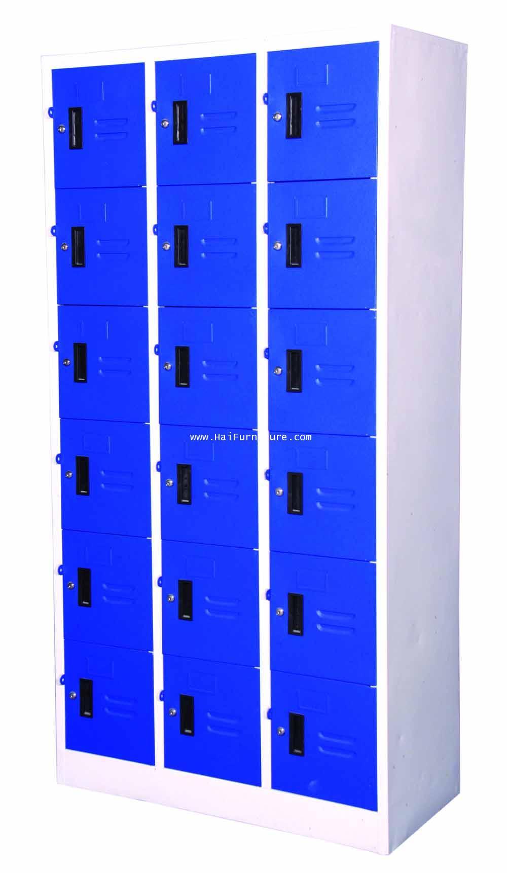 ตู้ล๊อกเกอร์เหล็ก 18 ช่อง LK-18 Elegant 91.4*45.6*183 ซม. 3