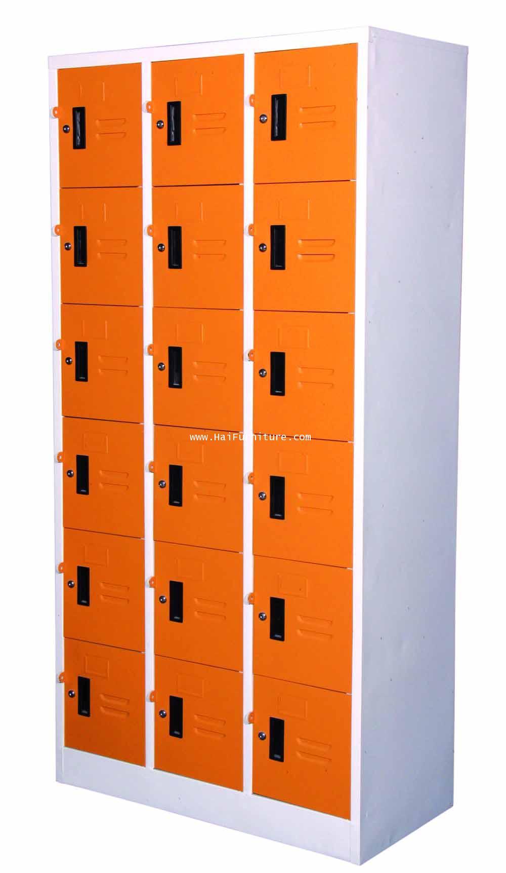 ตู้ล๊อกเกอร์เหล็ก 18 ช่อง LK-18 Elegant 91.4*45.6*183 ซม. 4