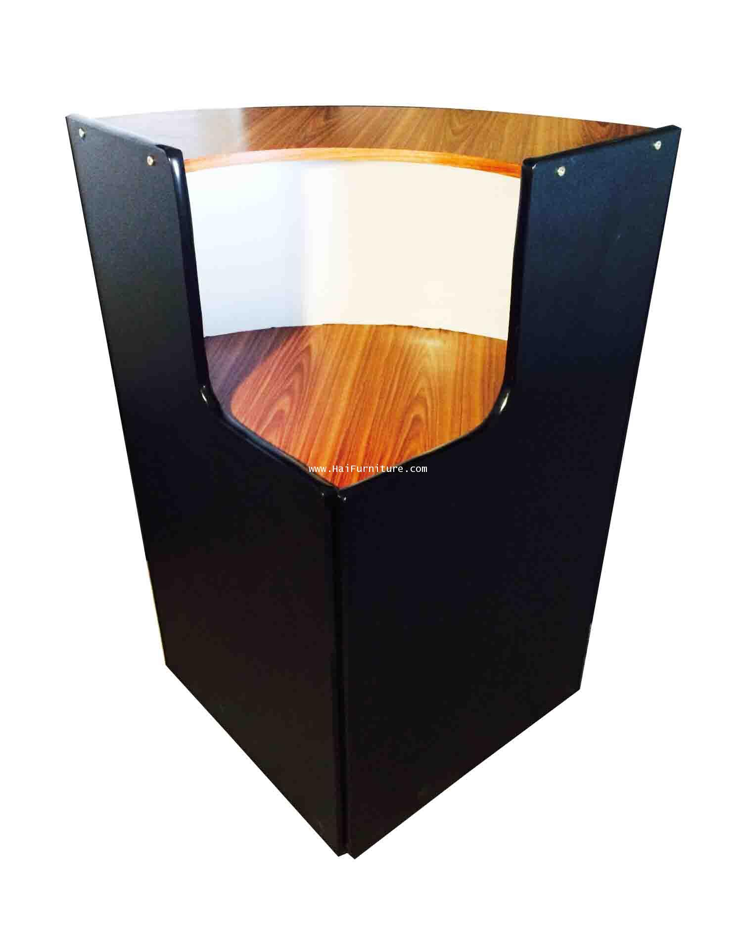เคาท์เตอร์มุมหน้า PVC สีสัักดำ 60*60*110 cm