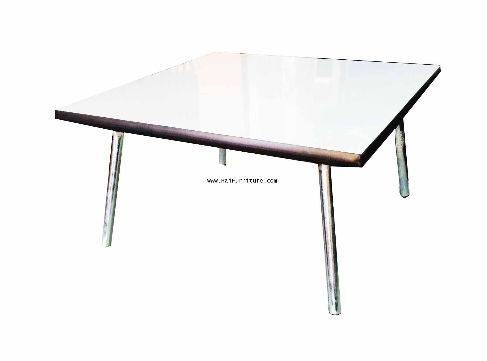 โต๊ะพับญี่ปุ่นหน้าโฟเมกา สีขาว