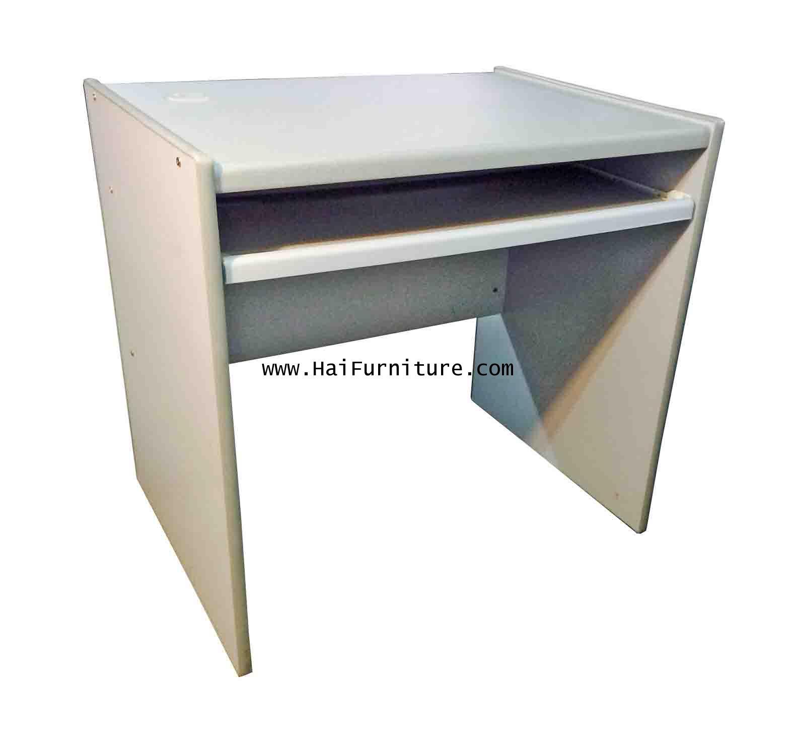 โต๊ะคอมพิวเตอร์ 80 ซม. PVC ทรายเทา
