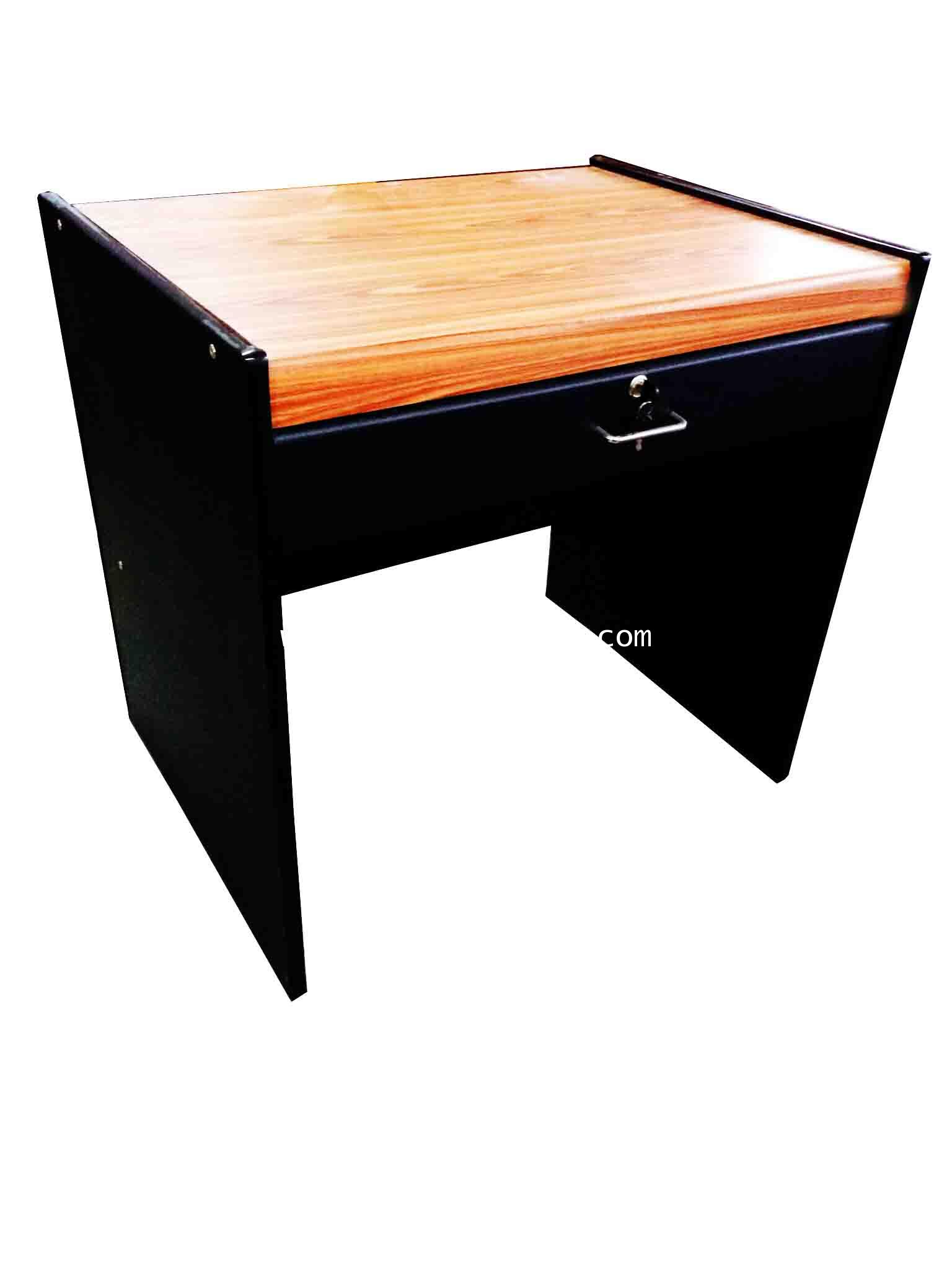 โต๊ะทำงาน 80 ซม. PVC สีสักดำ