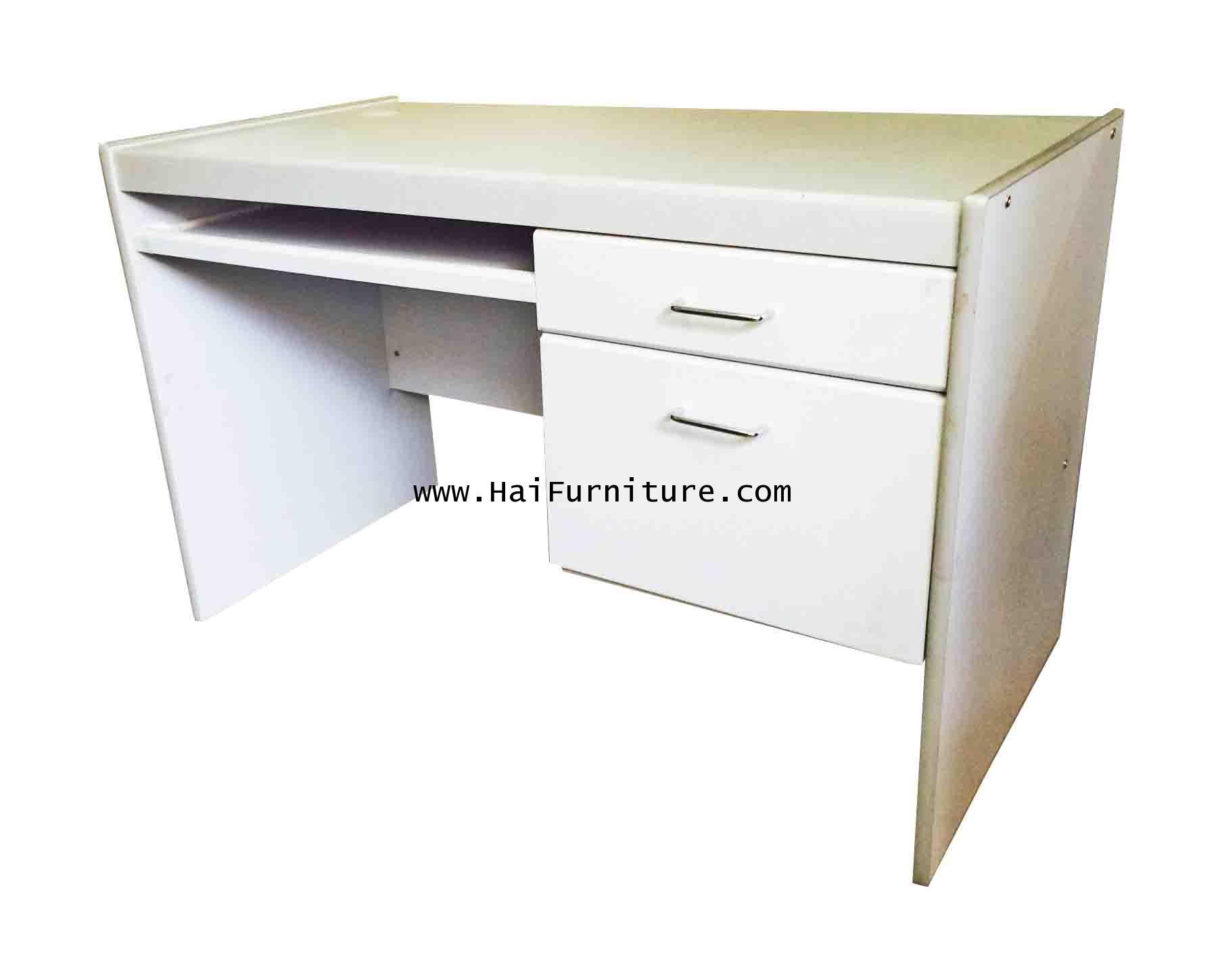 โต๊ะคอมพิวเตอร์ 120 ซม. PVC ทรายเทา