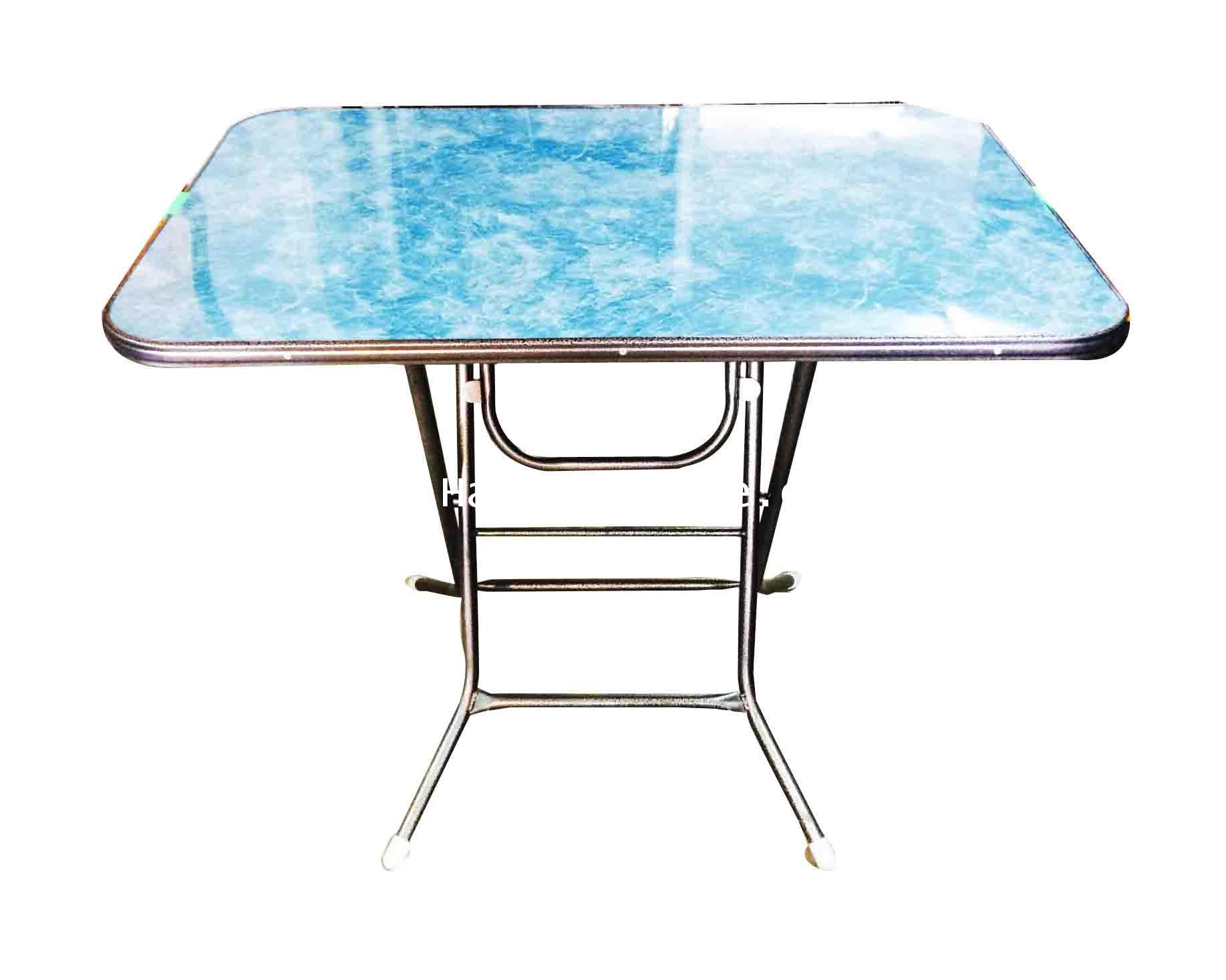 โต๊ะพับหน้าไม้ ขอบเหล็ก 3 ฟุต