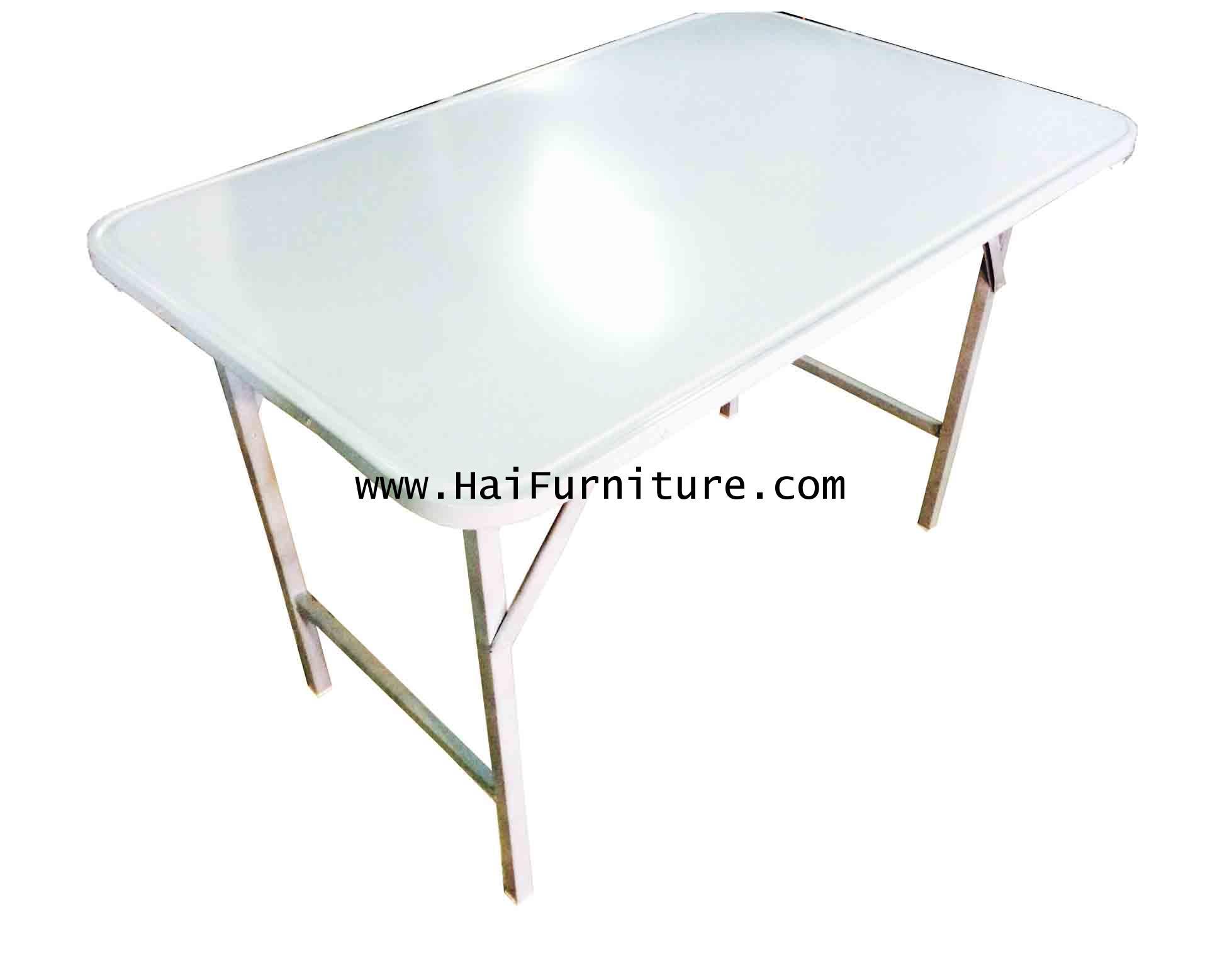 โต๊ะพับหน้าเหล็ก ขาสวิง 4 ฟุต