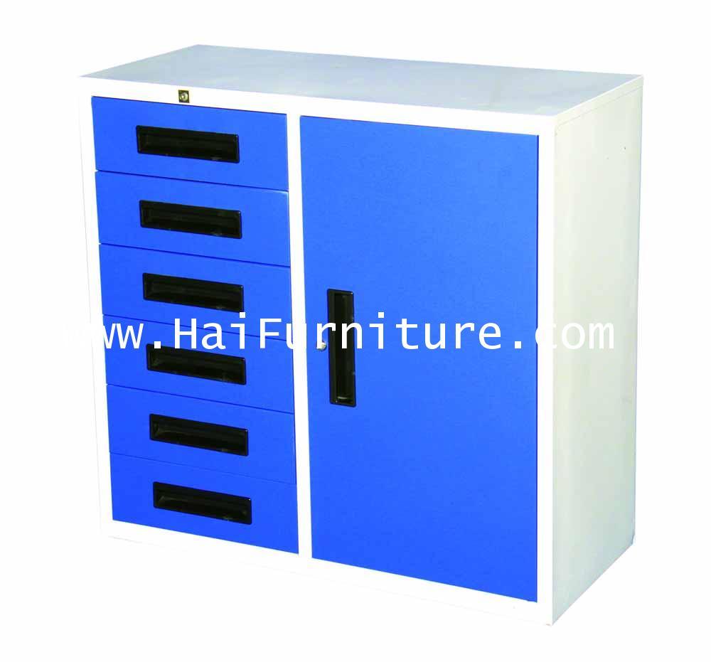 ตู้เหล็กรวม 3 ฟุต 6 ลิ้น 1 บาน Elegant 91.2*40.5*87.4 cm