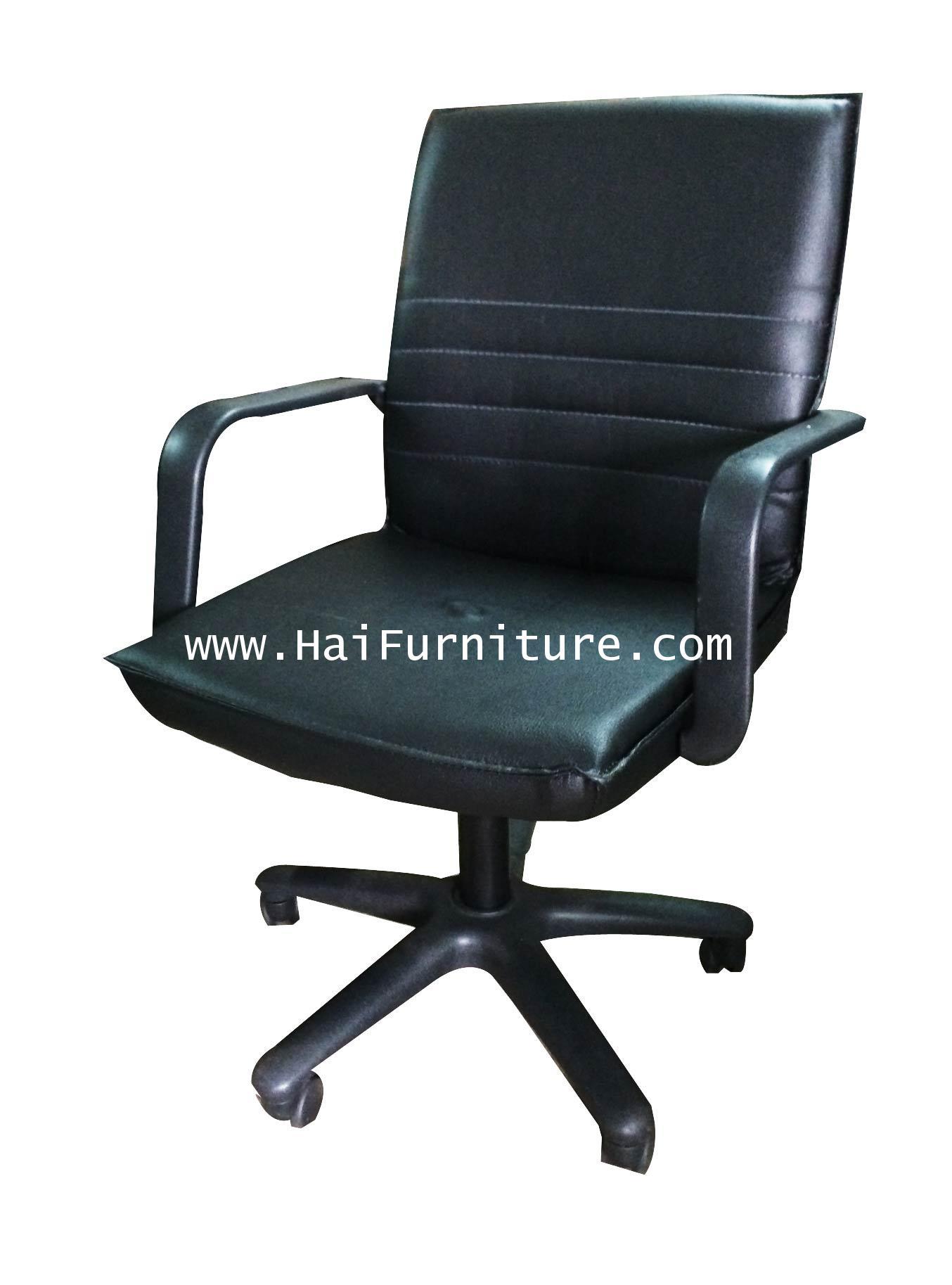 เก้าอี้เสมียน หนัง PU ขาไฟเบอร์ EL-004A