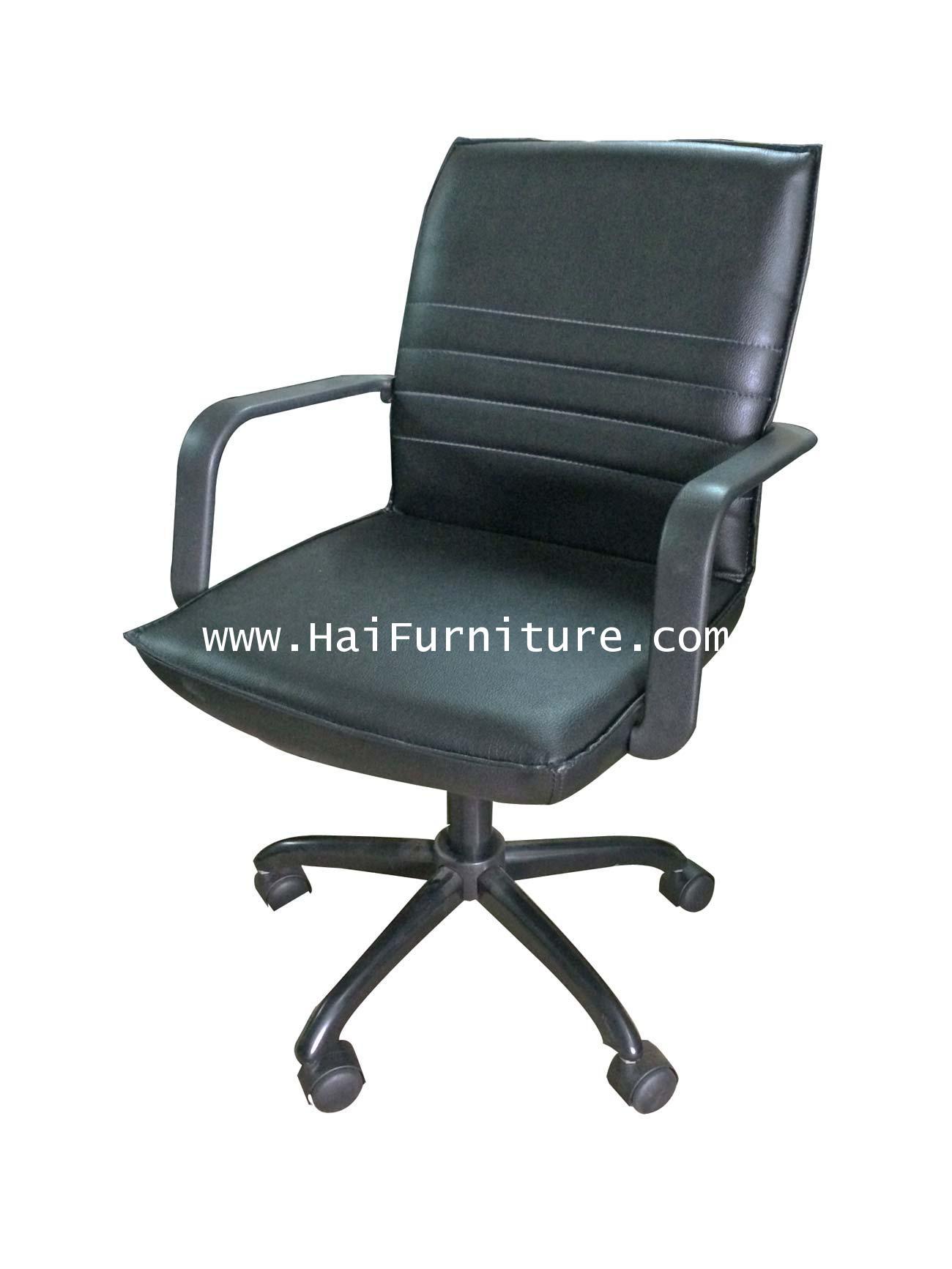 เก้าอี้เสมียน หนัง PU ขาเหล็ก EL-004A