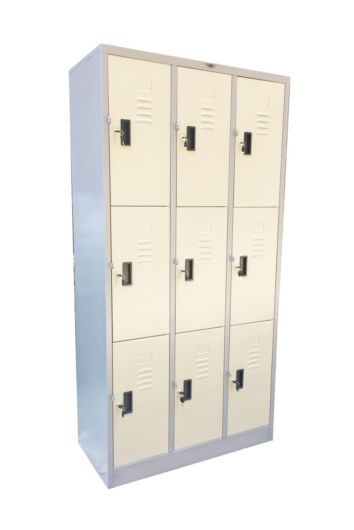 ตู้ล๊อคเกอร์ 9 ช่อง รุ่นประหยัด LK-9 Elegant 91.4*45.7*183 CM