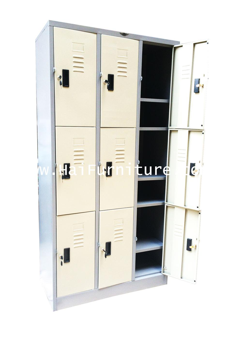ตู้ล๊อคเกอร์ 9 ช่อง รุ่นประหยัด LK-9 Elegant 91.4*45.7*183 CM 1