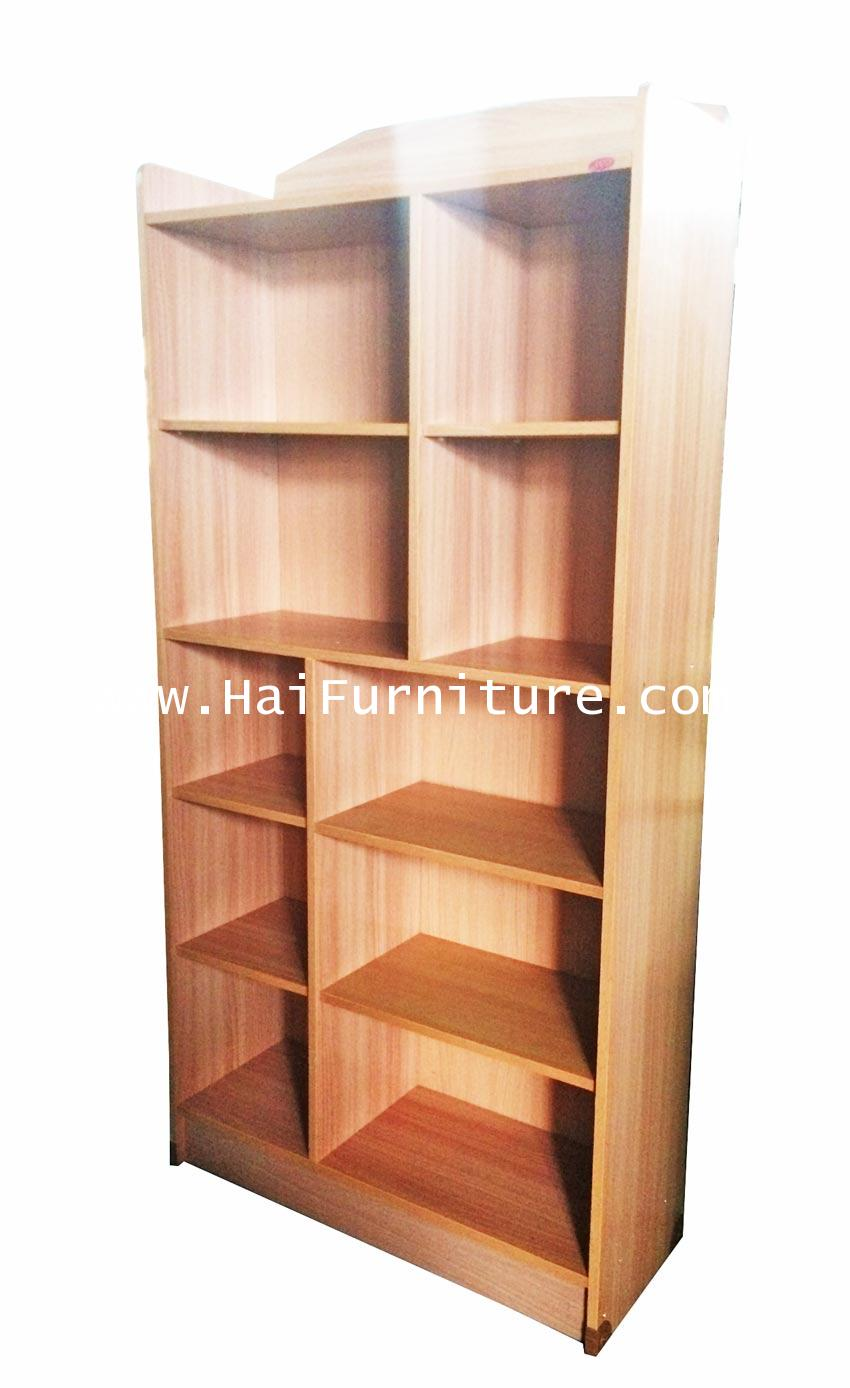 ตู้หนังสือ 10 ช่อง A4 80*30*160 ซม.