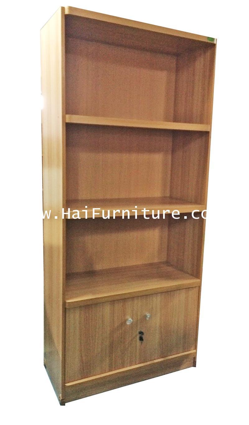 ชั้นหนังสือ 3 ชั้น 2 บาน A5 80*40*180 ซม.