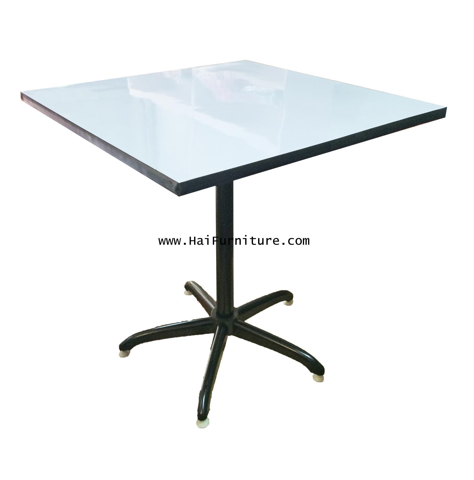 โต๊ะสี่เหลียม ขาเดี่ยว หน้าโฟเมกา 75 ซม.