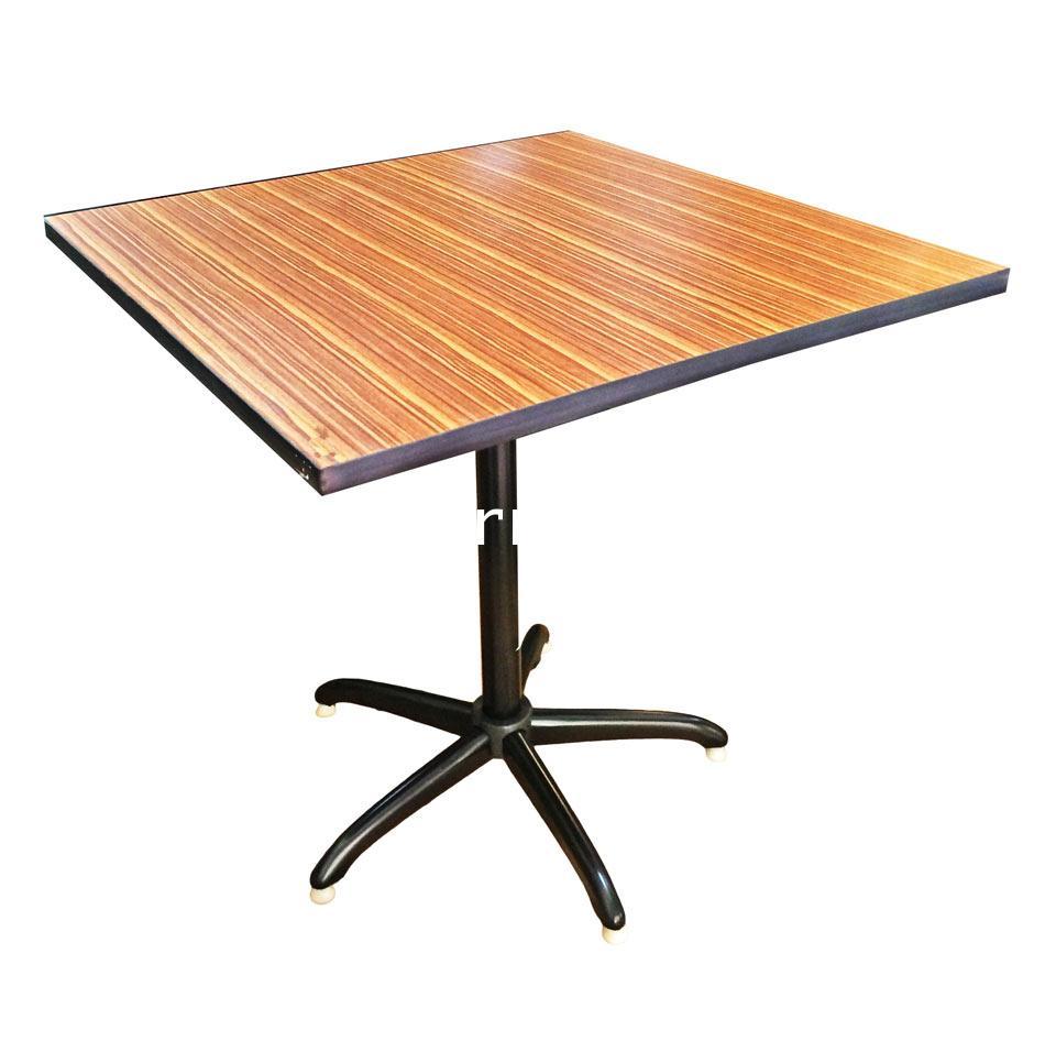 โต๊ะรับประทานอาหาร หน้าเมลามีน ลายไม้ 75*75*75 ซม.