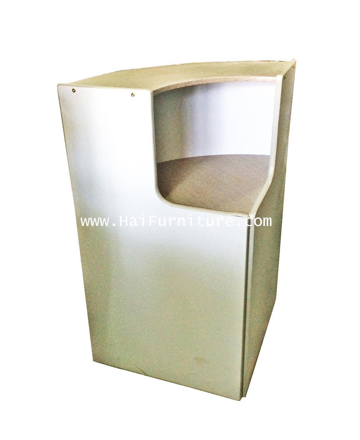 เคาท์เตอร์มุม หน้า PVC สีแกรนิต/เทา 60*60*110 cm