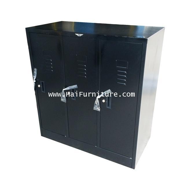 ตู้ล๊อคเกอร์ 3 ช่อง (เตี้ย) 91.2*45.7*97.7 ซม. LK-3SMALL Elegant