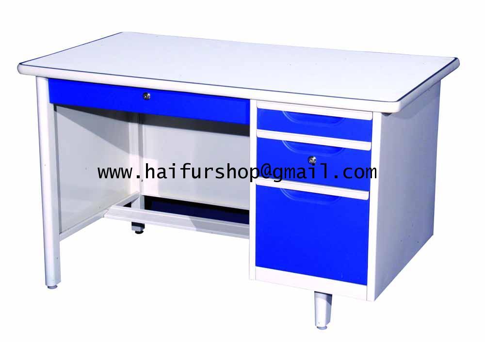 โต๊ะทำงานเหล็ก 4 ฟุต Grade B 123*67*75.3 cm