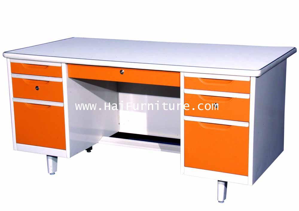 โต๊ะทำงานเหล็ก 5 ฟุต Grade B 154*78*75.3 cm