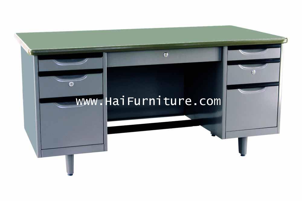 โต๊ะทำงานเหล็ก 5 ฟุต Elegant 157*78*75.3 cm