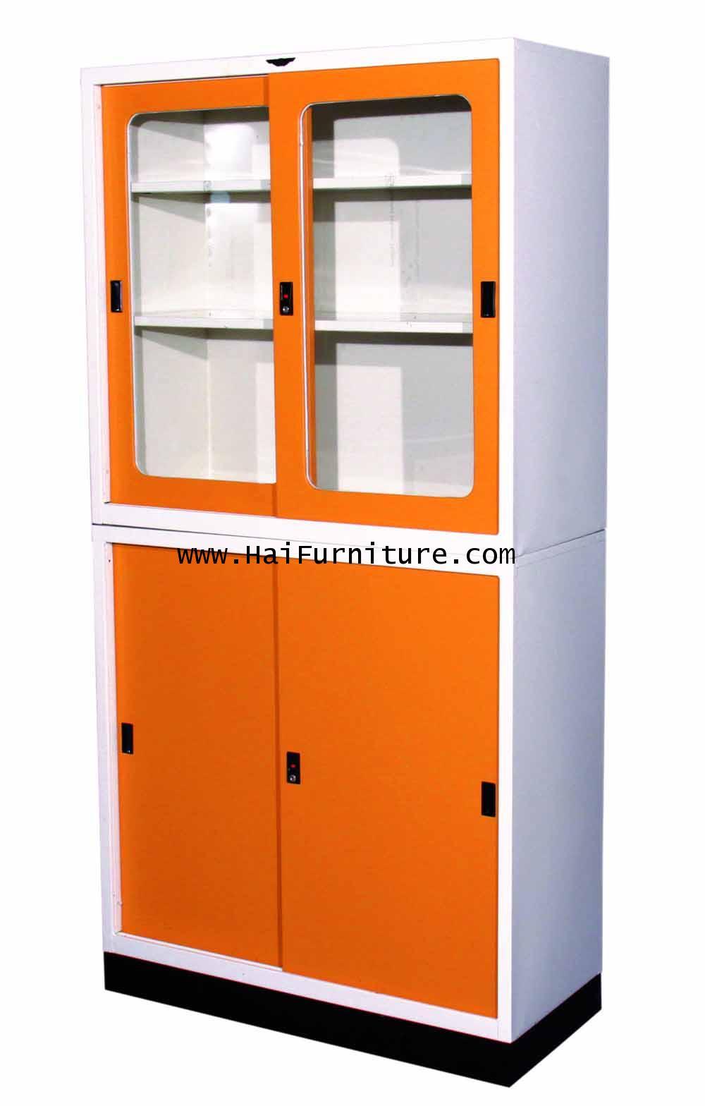 ชุดตู้บานเลื่อน 3 ฟุต Elegant 91.4*40.6*185.6 ซม.
