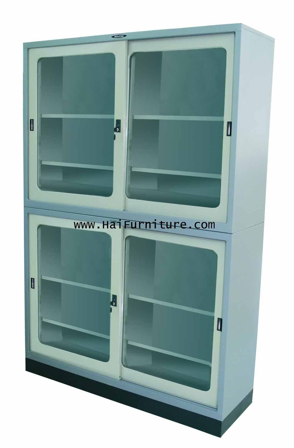 ชุดตู้บานเลื่อนกระจก 4 ฟุต Elegant 124.8*40.6*87.8 cm