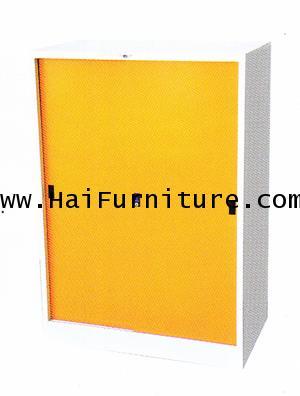 ตู้เสื้อผ้าเหล็กบานเลื่อนทึบเตี้ย WD-SLB3MINI Elegant 91.4*53.2*130 cm