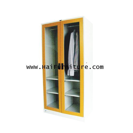 ตู้เสื้อผ้า 2 บานเปิด (กระจก) WD-LKA2 Elegant 91.4*53.3*183 ซม.