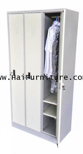 ตู้ล๊อคเกอร์เหล็ก 3 ช่อง Elegant LK-3 91.3 x 45.6 x 183 cm