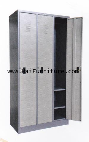 ตู้ล๊อคเกอร์เหล็ก 3 ช่อง Grade B 91.3 x 45.6 x 183 cm