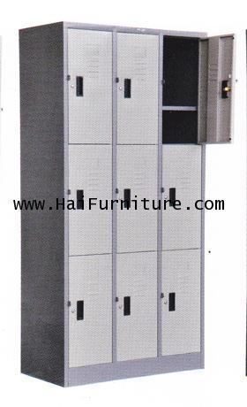 ตู้ล๊อคเกอร์ 9 ช่อง Grade B w91.4*d45.7*h183 cm 1