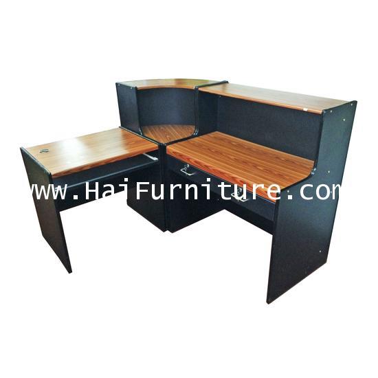 ชุดเคาท์เตอร์พร้อมโต๊ะคอมพิวเตอร์ 3 ชิ้น ตัว L 160*138*110 cm