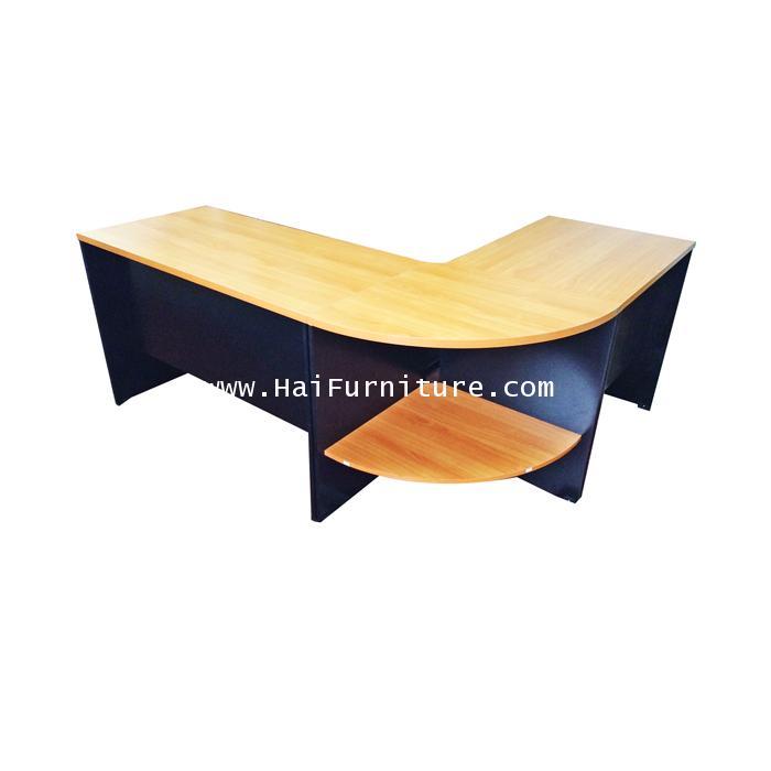 ชุดโต๊ะทำงานเมลามีน 3 ชิ้น 186*146*76 ซม.