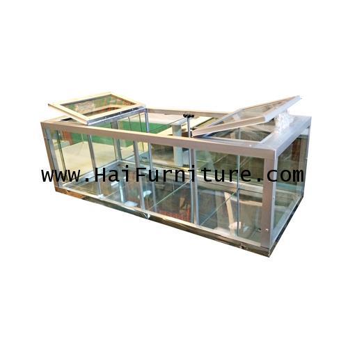 ตู้ขายผลไม้ อลูมินเนียม 110*45.5*36 ซม.