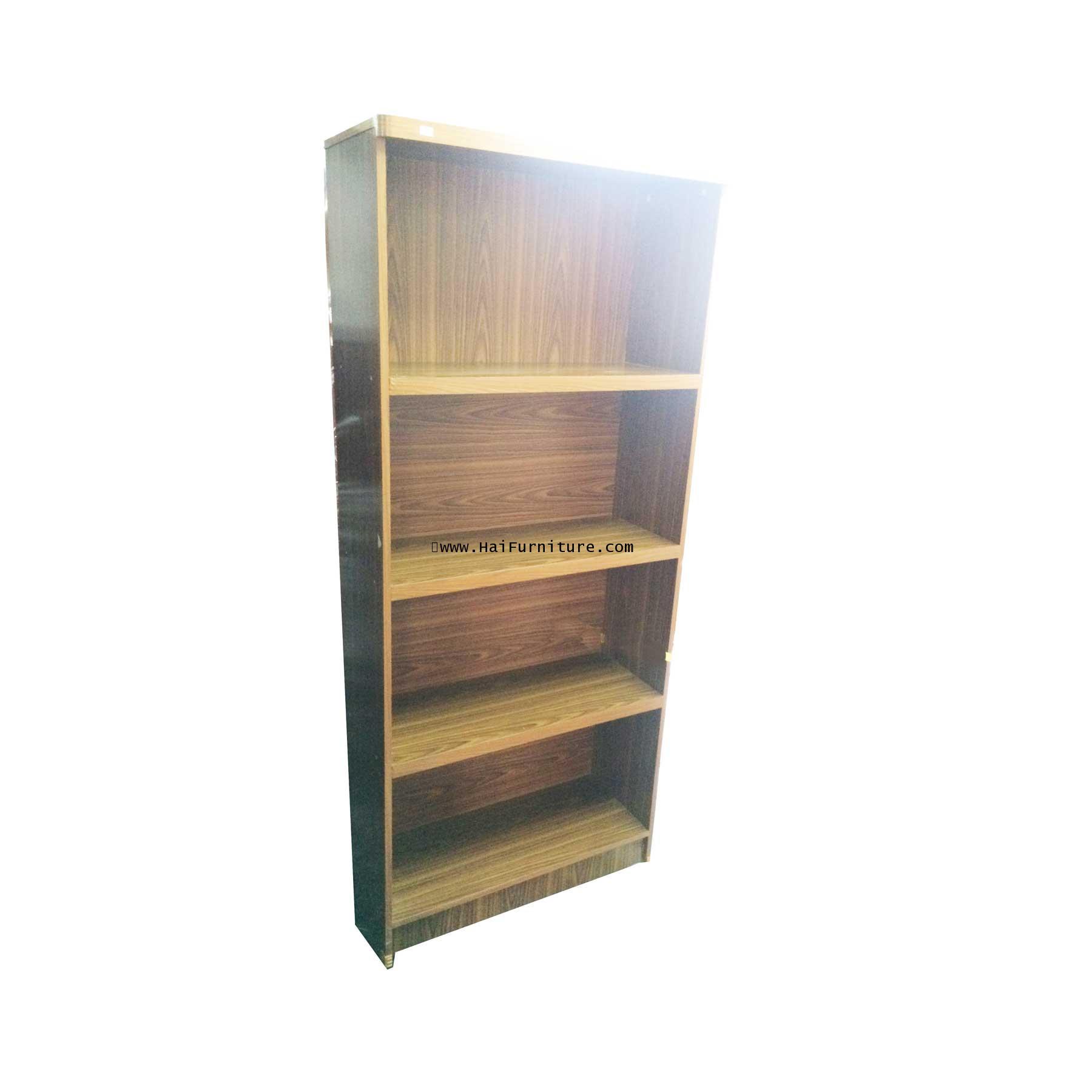 ชั้นวางหนังสือ 4 ชั้น น๊อคดาวน์ PVC 75*30*173 cm