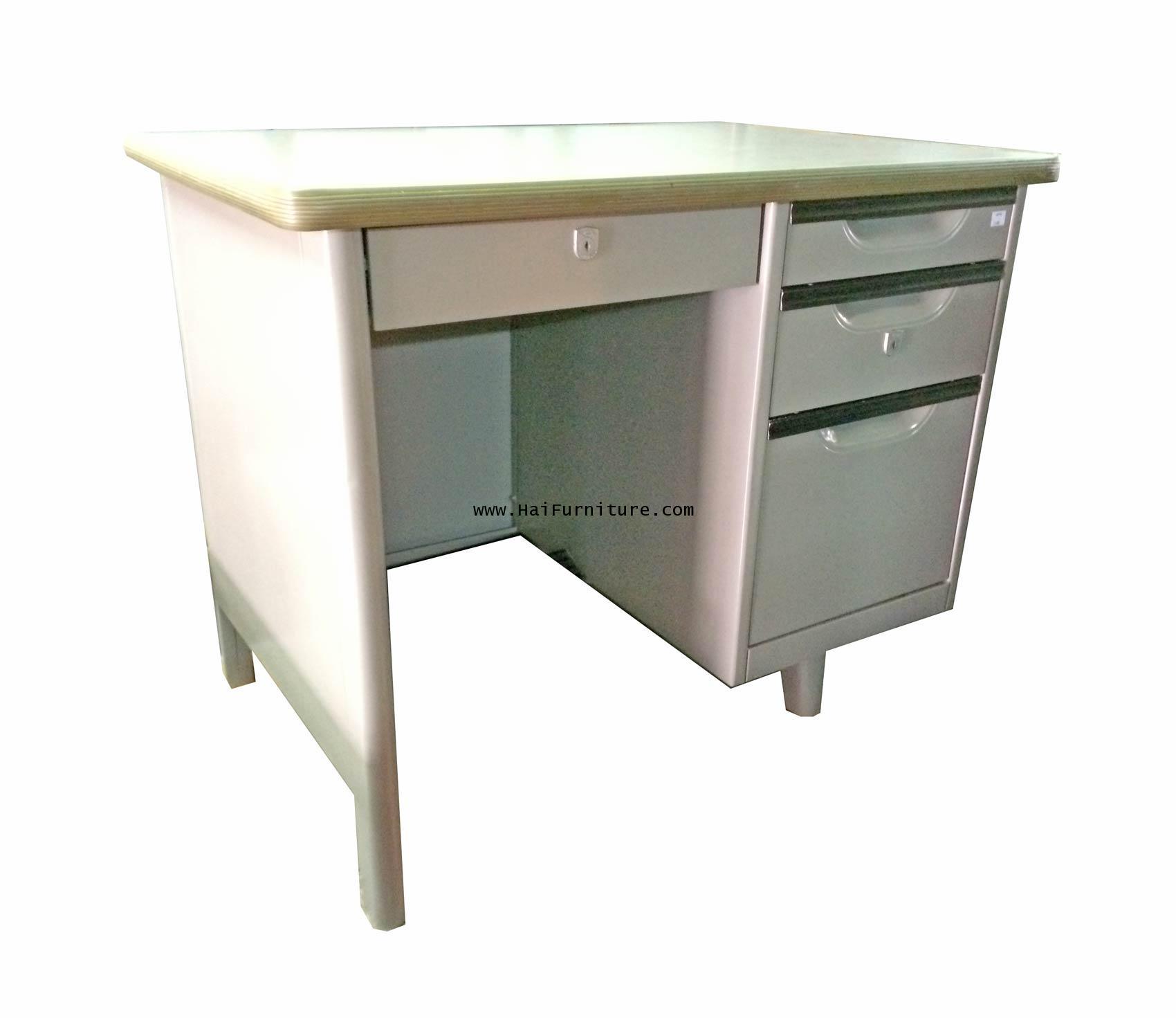 โต๊ะทำงานเหล็ก 3 ฟุต 92*62*74 ซม.