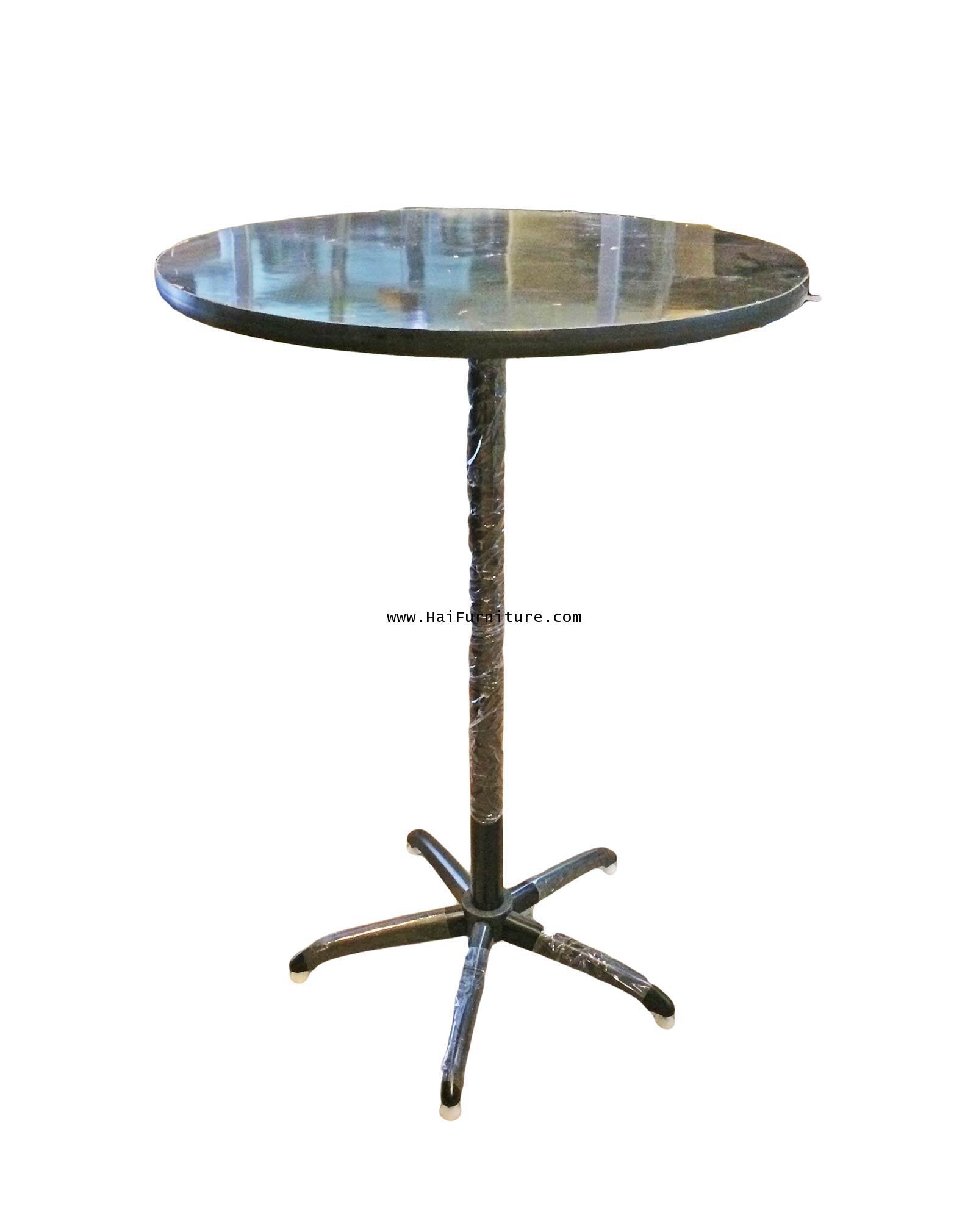 โต๊ะบาร์สูง หน้าสีดำ Elegant 75*75*110 ซม.