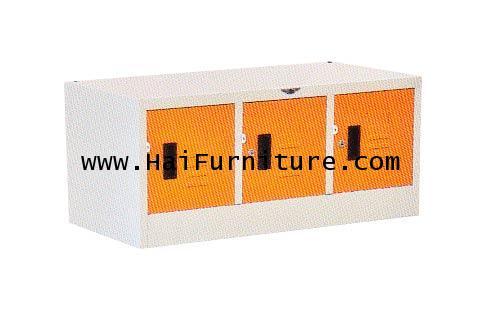 ตู้ล๊อคเกอร์เหล็ก 3 ช่องมินิ LK-3 MINI Elegant 91.2*45.7*40.8 cm
