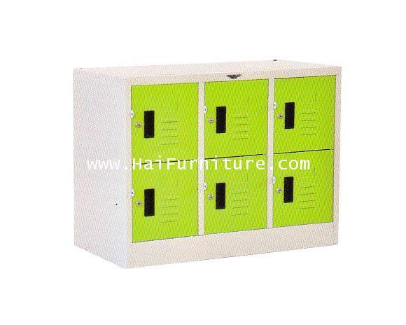 ตู้ล๊อคเกอร์เหล็ก 6 ช่องมินิ LK-6 MINI Elegant 91.2*45.7*69.3 cm