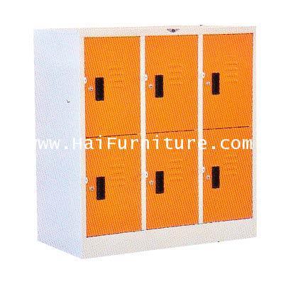 ตู้ล๊อคเกอร์ 6 ช่อง (เตี้ย) LK-6SMALL ELEGANT 91.2*45.7*97.7 CM