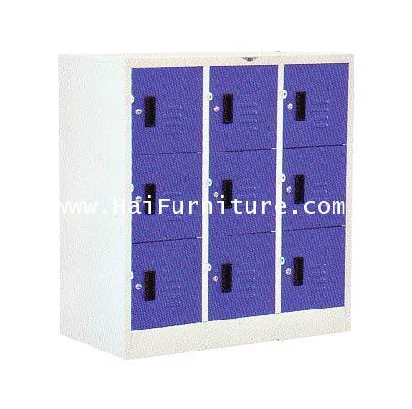 ตู้ล๊อคเกอร์เหล็ก 9 ช่อง (เตี้ย) LK-9SMALL Elegant 91.2*45.7*97.7 cm