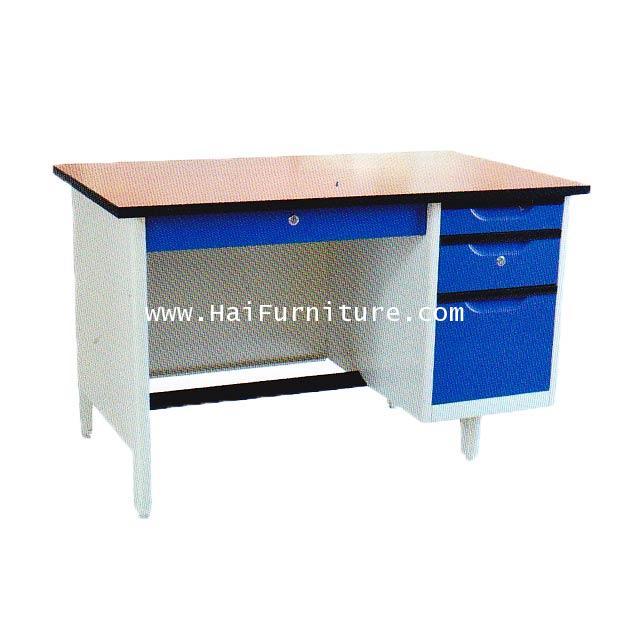 โต๊ะทำงานเหล็ก (หน้าเมลามีน) Elegant 123*67*75.3 cm