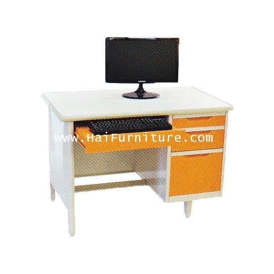 โต๊ะคอมพิวเตอร์เหล็ก Elegant 107.5*67.75.3 cm